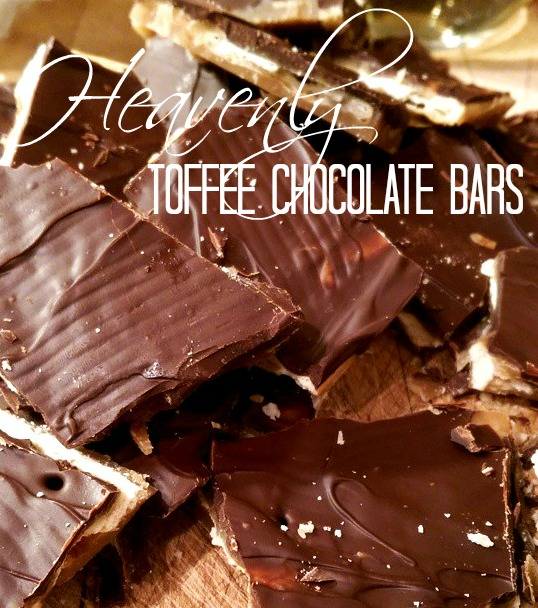 Heavenly Chocolate Toffee Bars