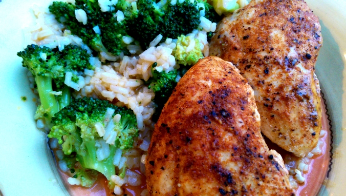 Twenty Minute Skillet Chicken with Creamy Rice and Broccoli | Dinner Is Served