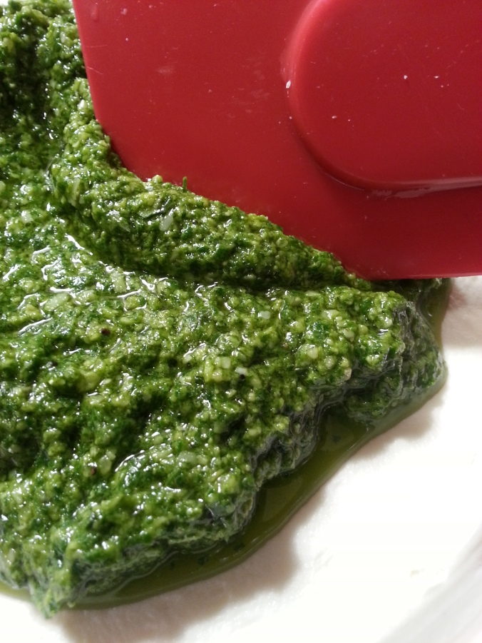 Holiday Spinach & Basil Pesto Dip with Sun Dried Tomatoes
