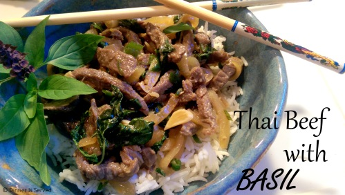 Thai Beef with Basil |Dinner Is Served
