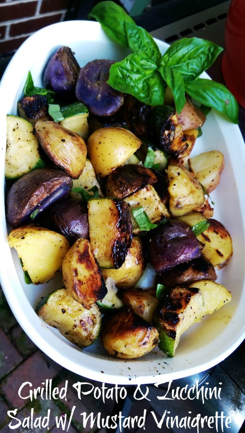 Grilled Potato & Zucchini Salad with Mustard Vinaigrette | Dinner Is Served