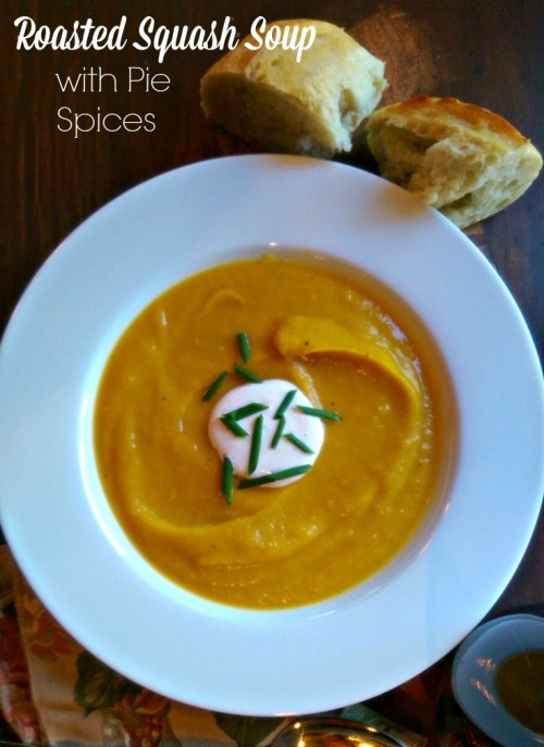 Roasted Squash Soup with Pie Spices | Dinner Is Served