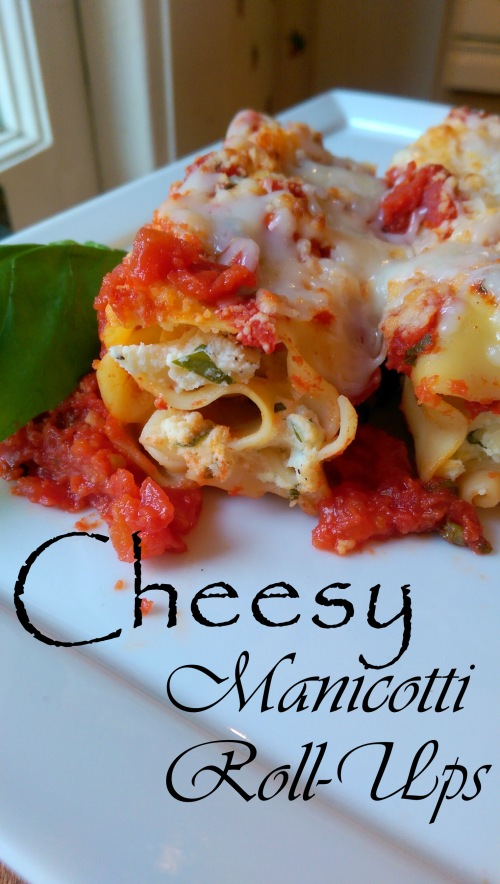 Cheesy Manicotti Roll-Ups | Dinner Is Served