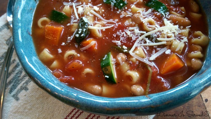 Slow Cooker Minestrone Soup 1