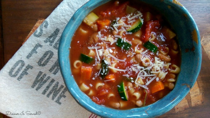 Slow Cooker Minestrone Soup 2