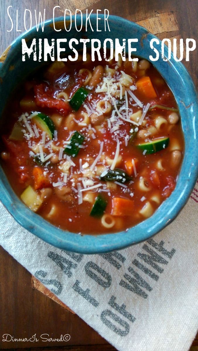 Slow Cooker Minestrone Soup 4
