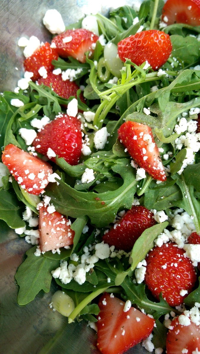 Strawberry Arugula Salad | Dinner Is Served