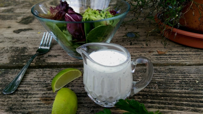 Creamy Buttermilk Dressing with Lime and Cilantro