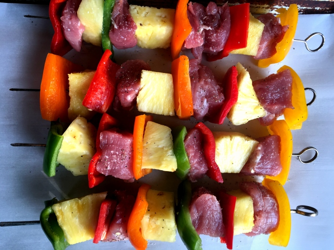 Pork, Pepper & Pineapple Skewers (4)