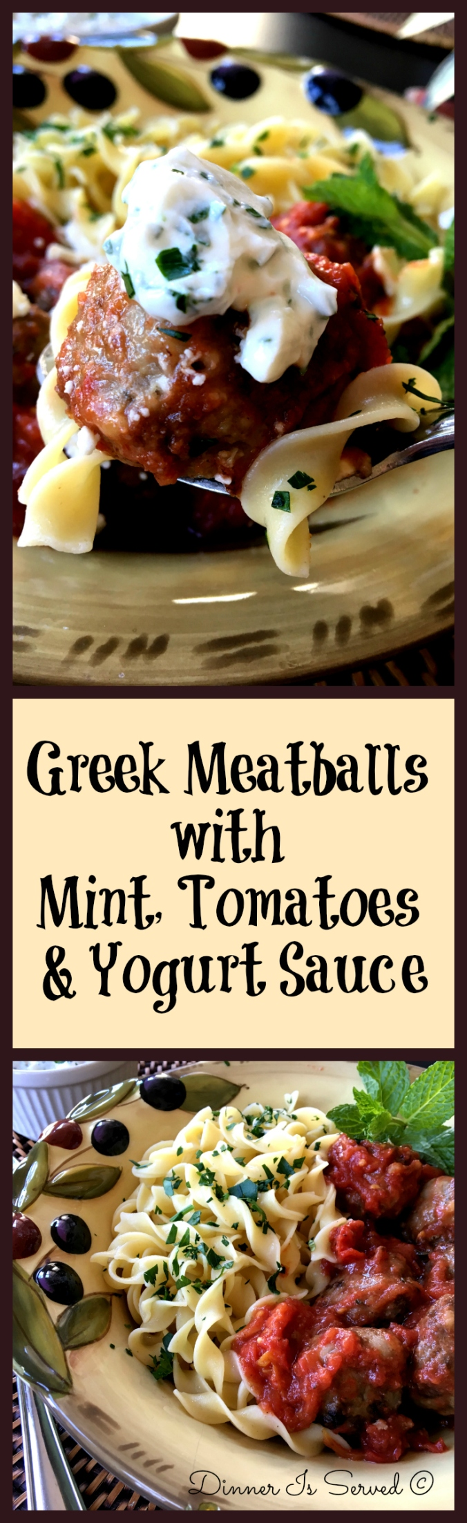 Greek Meatballs with Mint Cover - Dinner Is Served