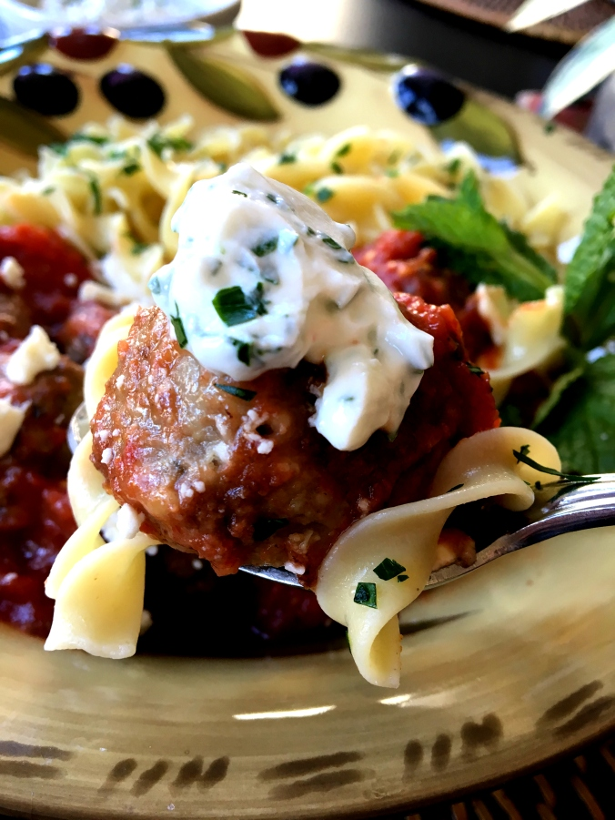 Greek Meatballs with Mint - Dinner Is Served