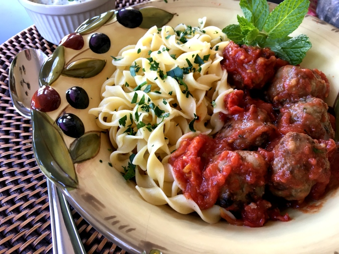 Greek Meatballs with Mint2 - Dinner Is Served