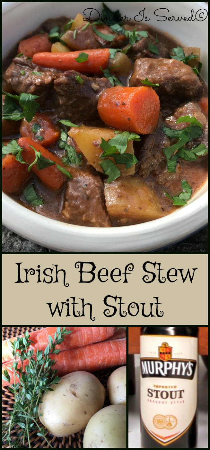 Irish Beef Stew with Stout DInner Is Served Pinterest