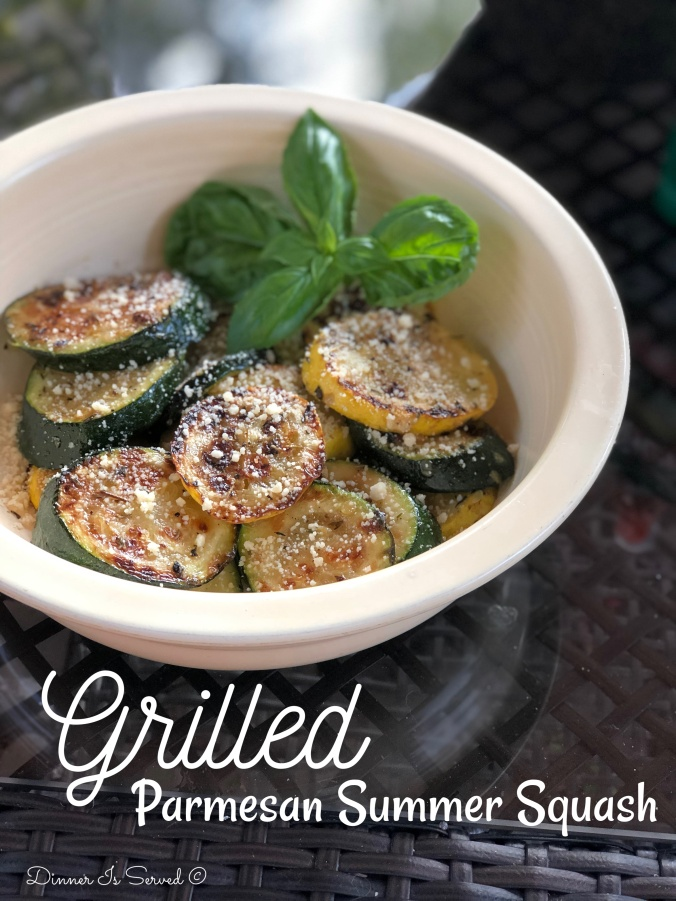 Grilled Parmesan Summer Squash2 Dinner Is Served