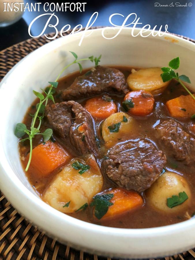 Instant Comfort Beef Stew Dinner Is Served3